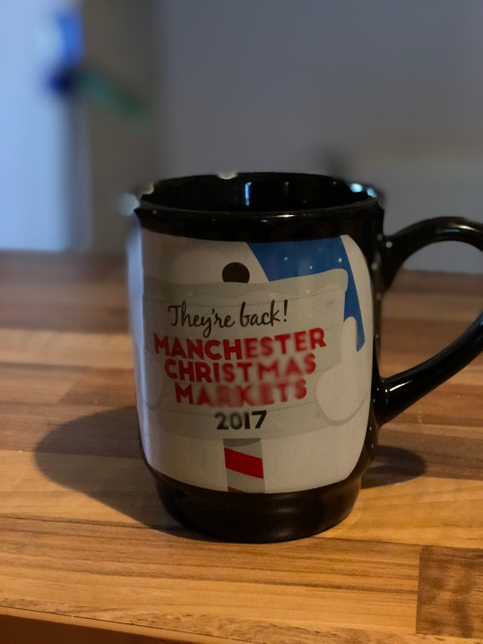 The back of the mug, they're stackable.
